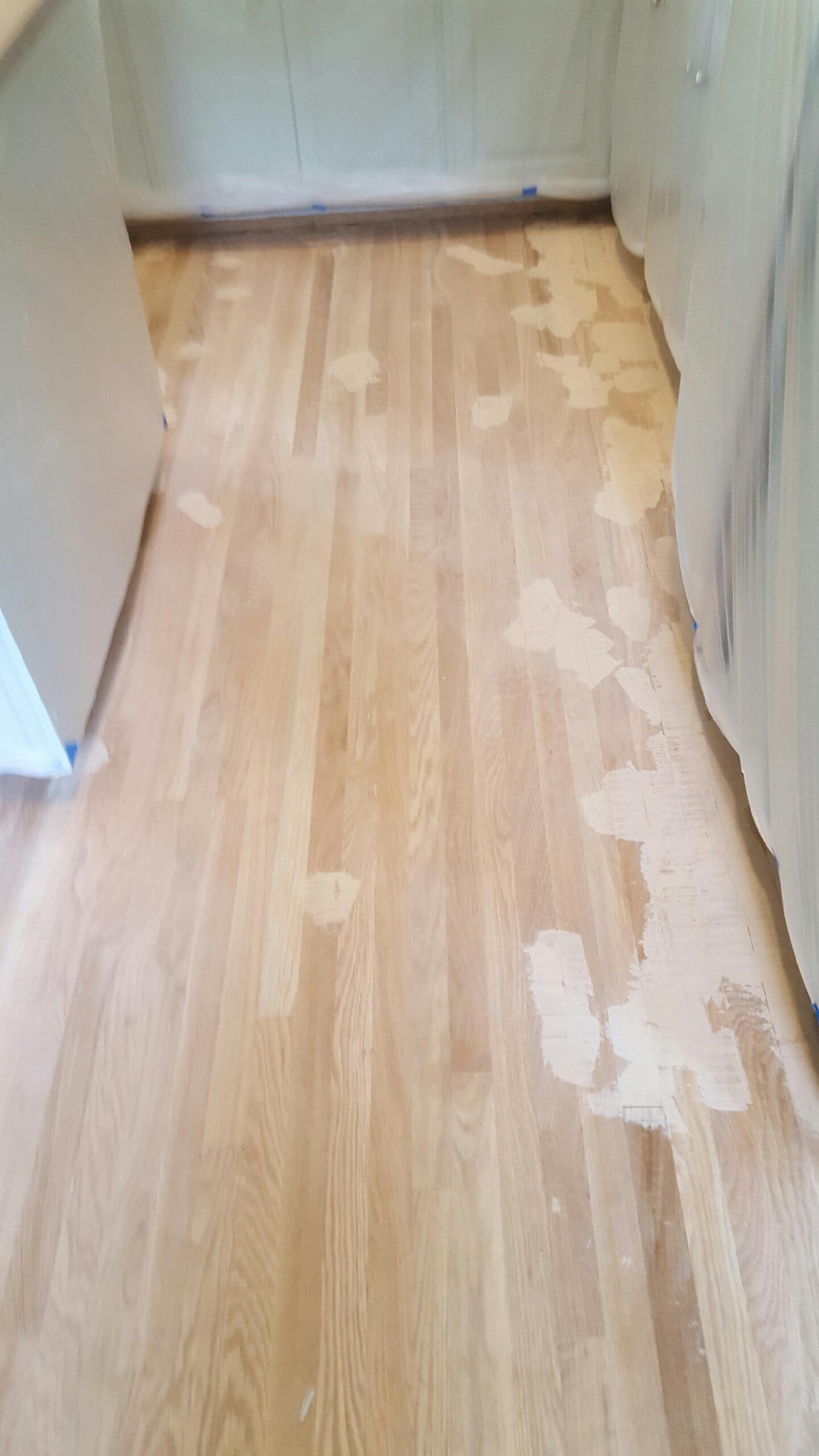 Floors in pantry.