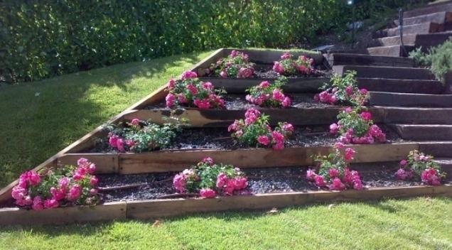 Perardi giardini - Palizzate in legno per giardino ...