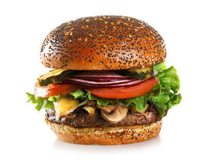 Mushroom, Onion & Swiss Burger made by City Burger Co.