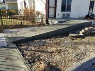 Concrete walkway expansion.