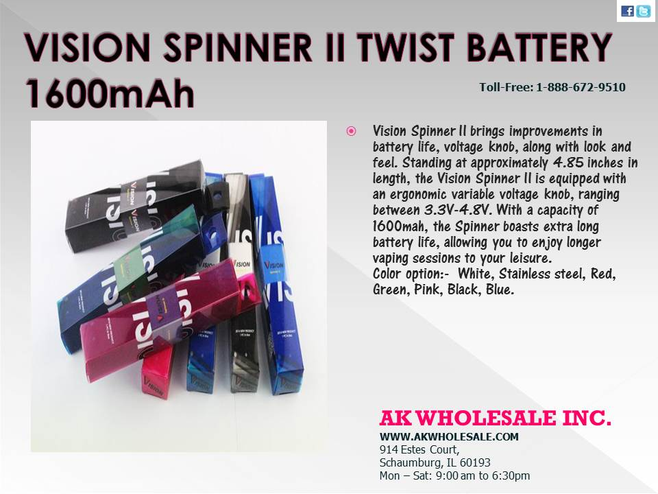 VISION SPINNER 11 TWIST BATTERY 1600 MAH