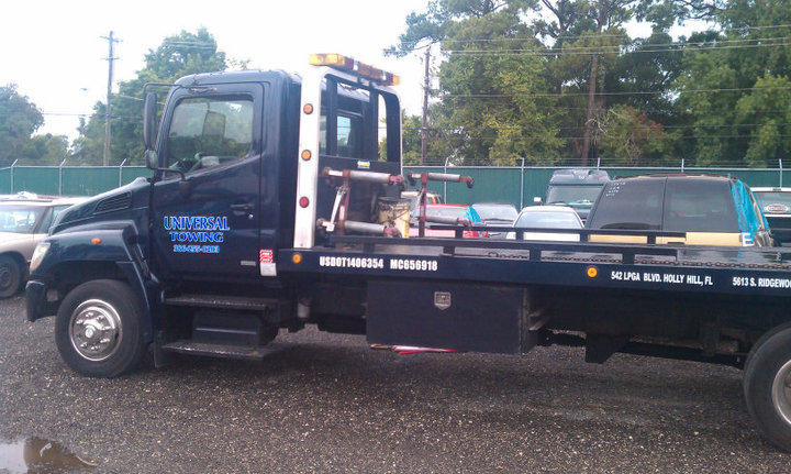 Universal Towing offers towing, off road recovery, heavy hauling services, and more.
