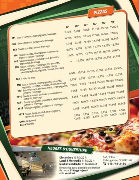 Pizza Marko's à Chibougamau