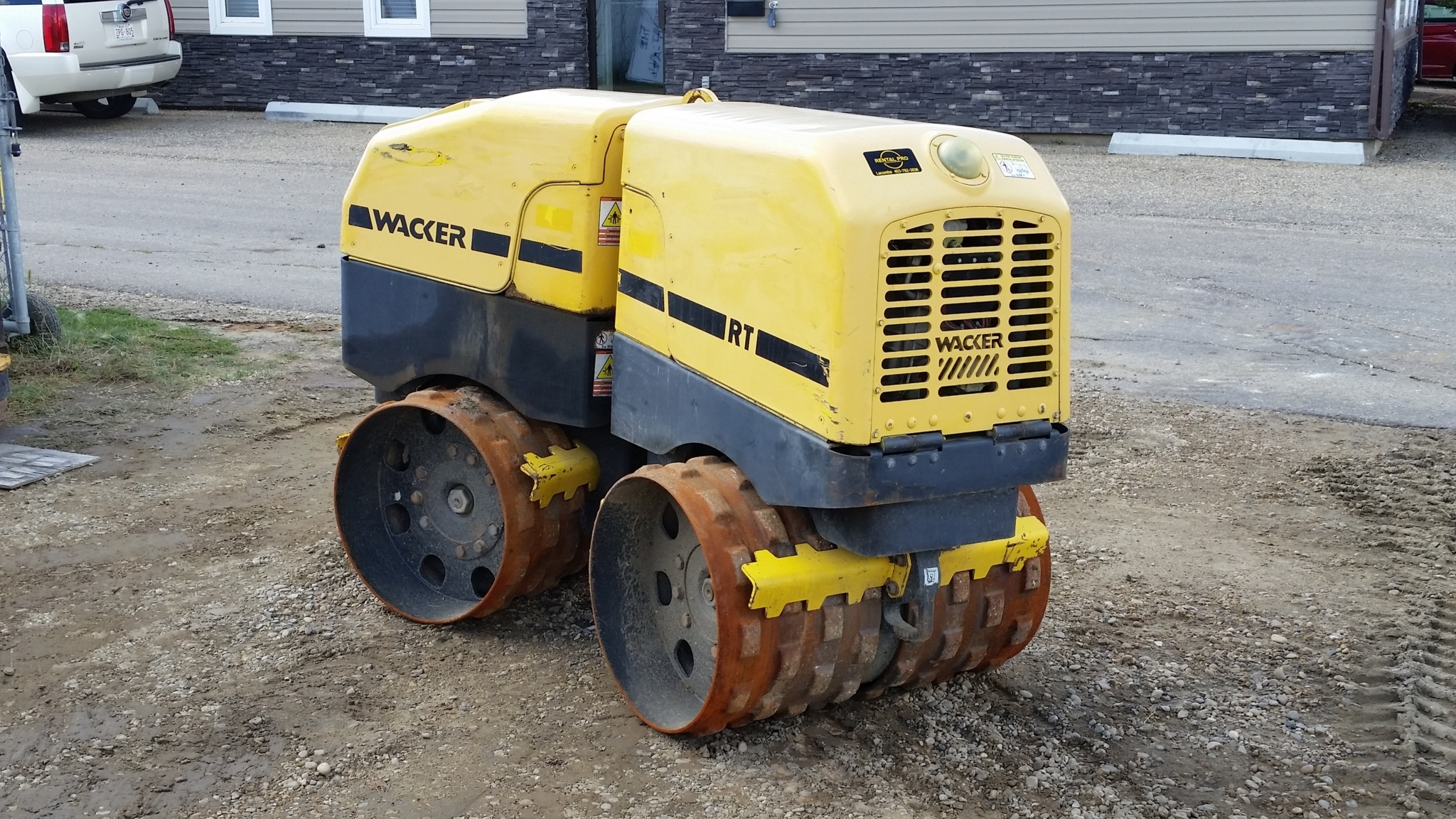Rental Pro in Lacombe: Remote controlled  Trench Packer No need for workers to enter a trench.