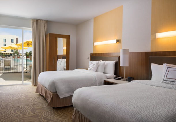 Our spacious Queen/Queen guest rooms ensure a rested and productive stay.
