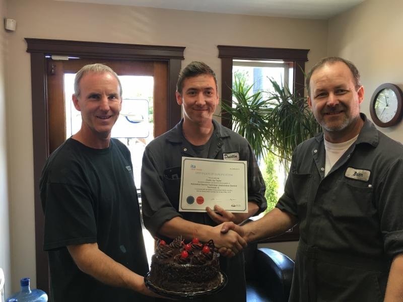 Seeco Automotive in Courtenay: Congratulations to Dustin on completing his Automotive Technician Apprenticeship and receiving his Red Seal Certificate this Spring!