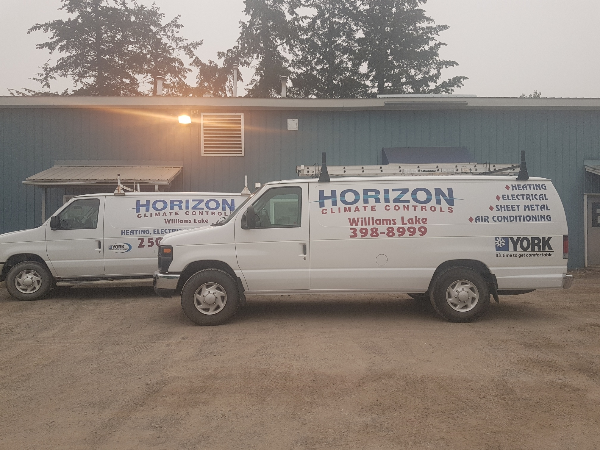 Horizon Climate Controls Ltd in Williams Lake: service vans