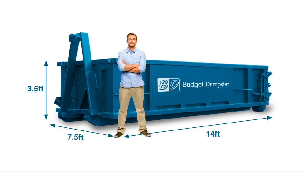 A 10 yard dumpster is the smallest size Budget Dumpster offers and ideally used for smaller projects. If you don't have a lot to throw away or simply don't have the space to fit a larger dumpster, a 1