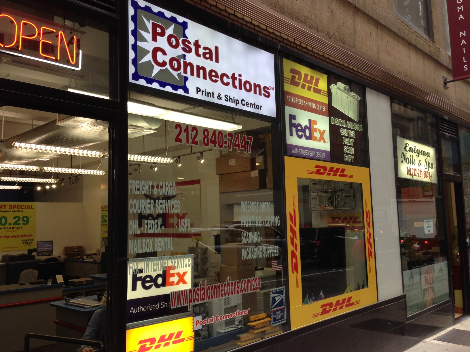 postal connections dhl express at 200 w 39th street new york ny on fave. Black Bedroom Furniture Sets. Home Design Ideas