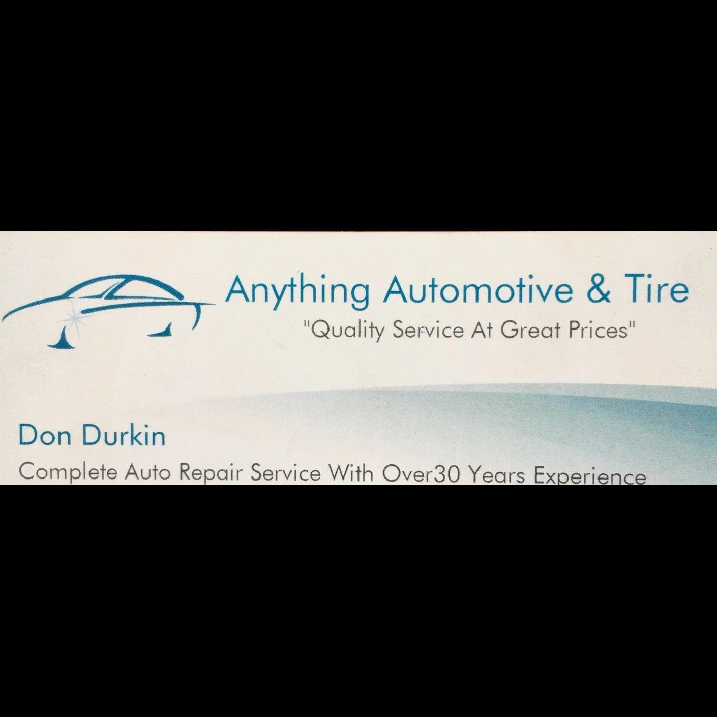 Anything Automotive & Tire