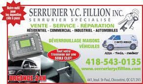 Fillion Y C Serrurier Inc à Chicoutimi