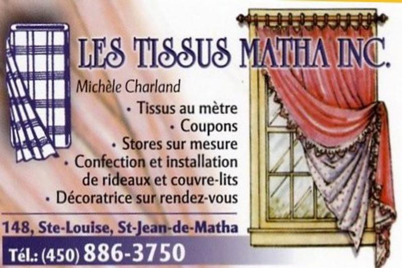 Les Tissus Matha  à Saint-Jean-de-Matha