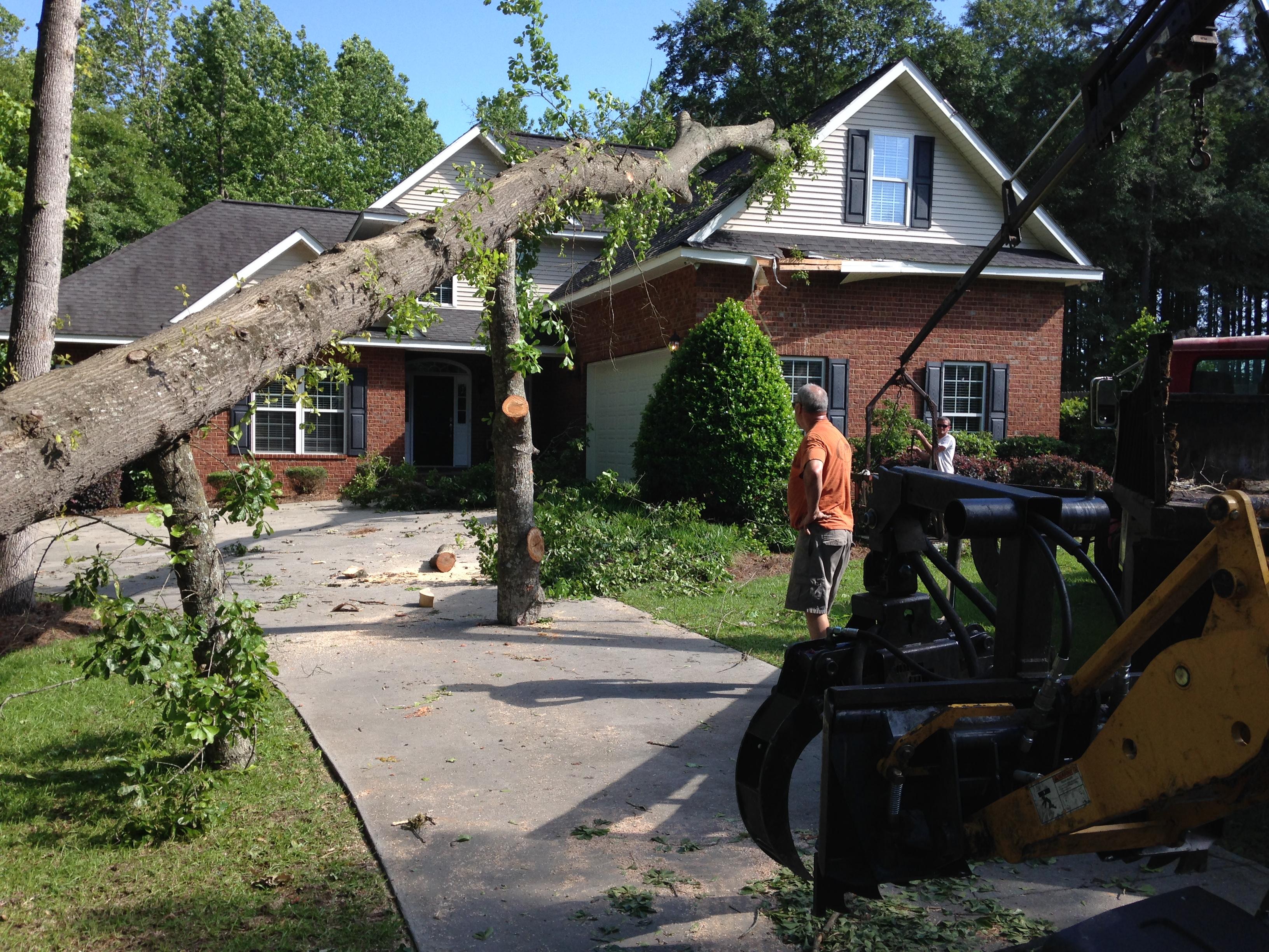 Storm damage, Statesboro ga.