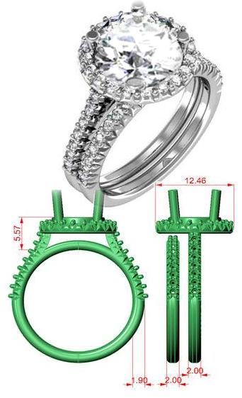 Custom designed engagement rings.