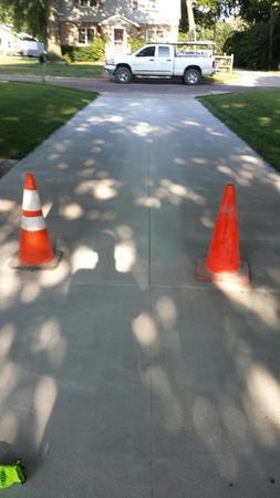 Brand new concrete driveway.