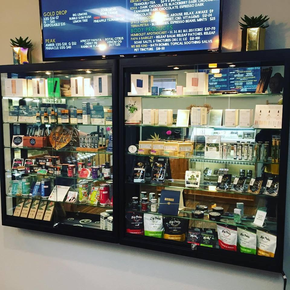A wide selection of cannabis flower and cannabis products from  Humboldt County and beyond including CBD options, and high THC and terpene rich options