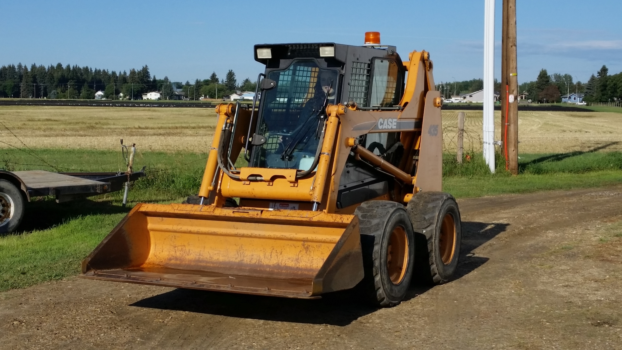 Rental Pro in Lacombe: Case Skid Steer 3 bucket choices and many other attachments are available.
