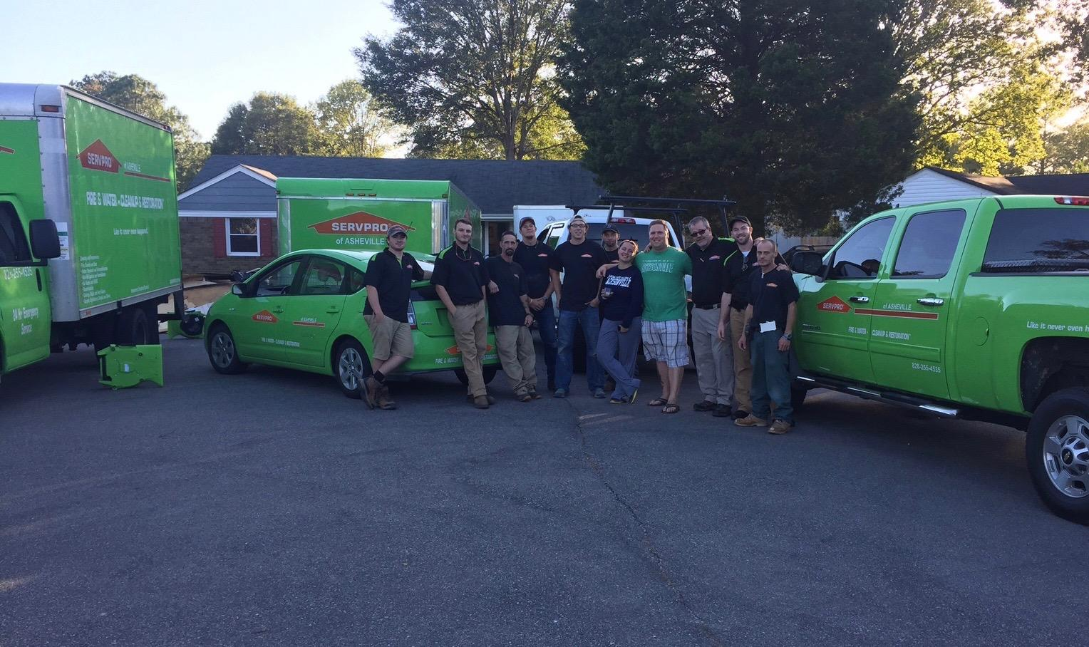 Our SERVPRO team is proud to serve you!