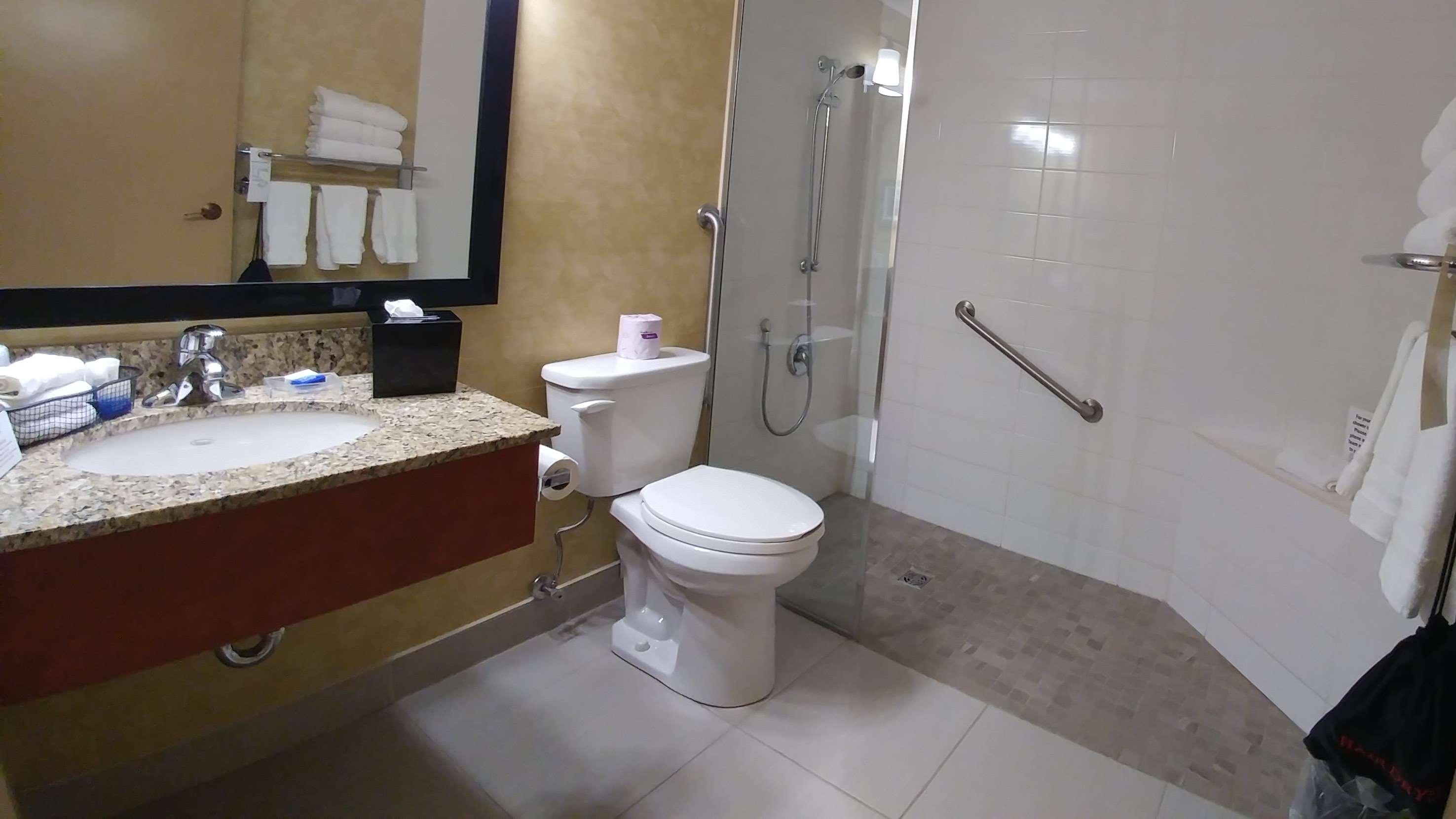 Best Western Plus Rose City Suites in Welland: Accessible bathroom suite 101