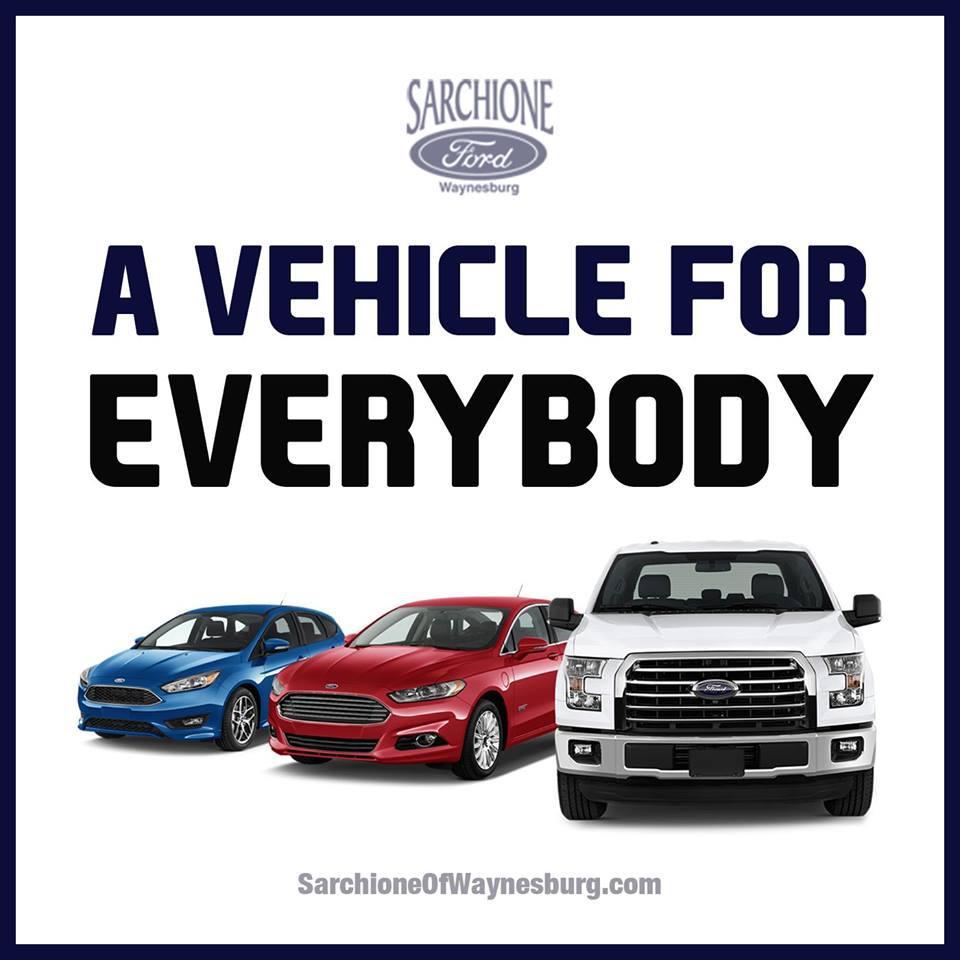 Sarchione Ford Waynesburg >> Sarchione Ford Of Waynesburg 300 West Lisbon St Waynesburg