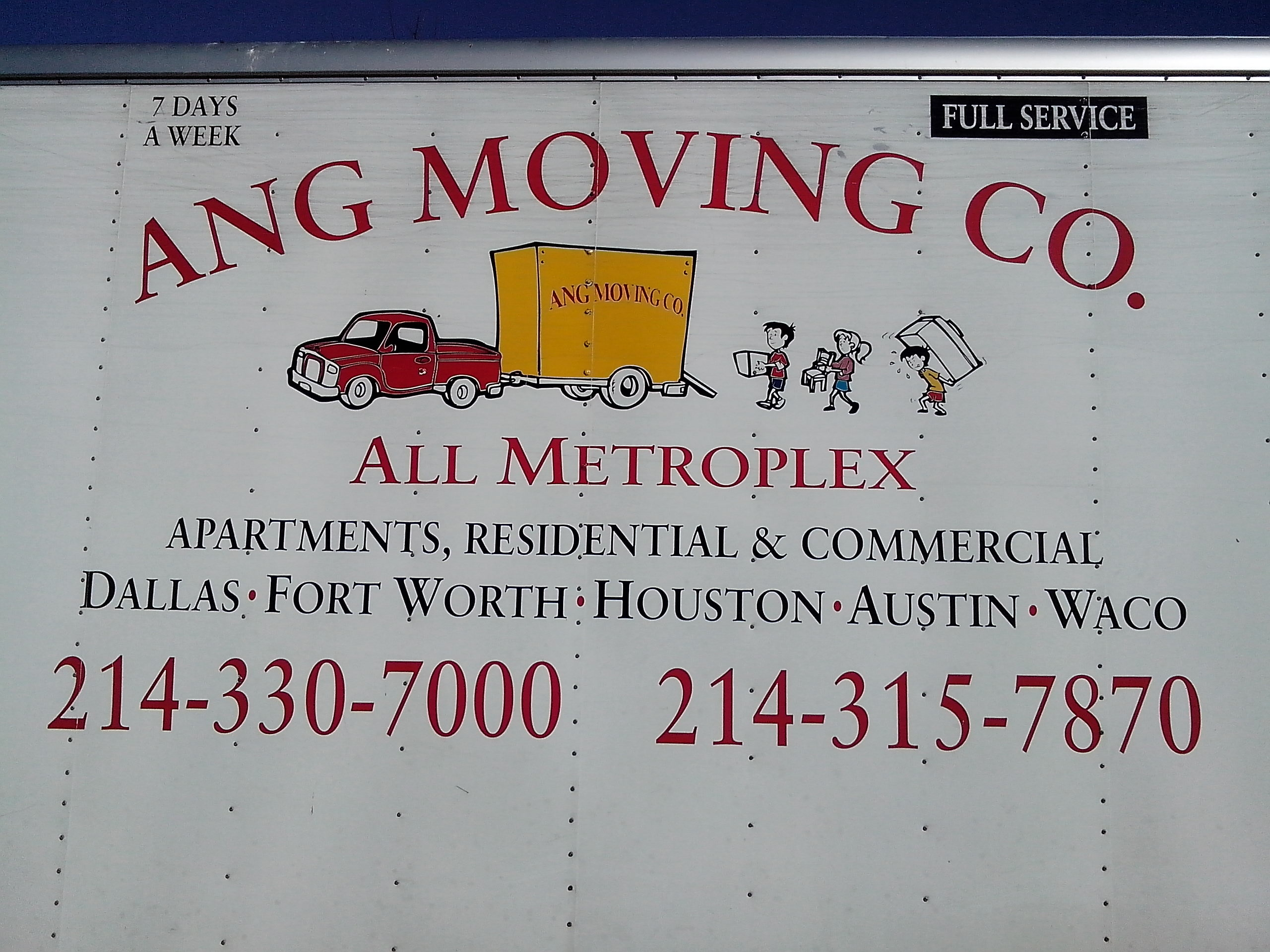ang moving co 1507 mountain lake rd dallas, tx furniture movers