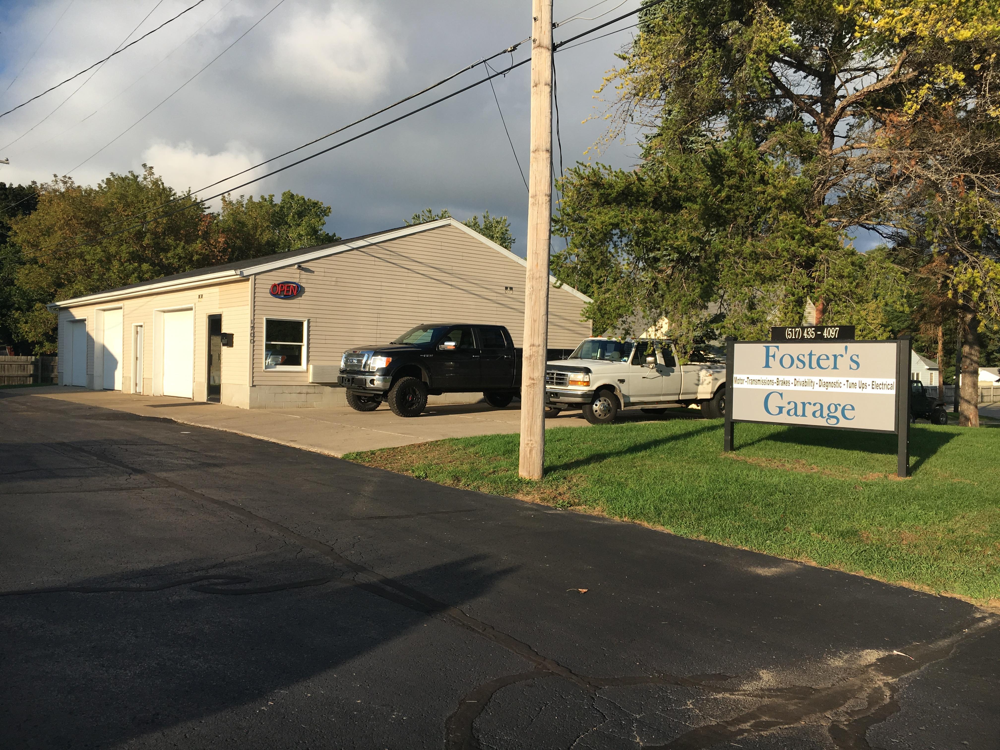 Auto Repair Shop in MI Jackson 49202 Foster's Garage 1700 W. Ganson St.  (517)435-4097