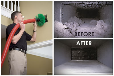 Ductwork cleaning is one of our most popular services!  Recommended to be done every 3-5 years.