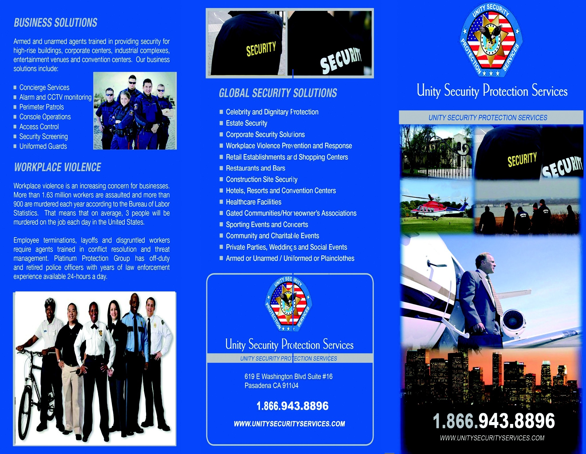 Unity Security & Protection Services - ad image