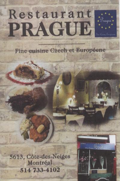 Restaurant Prague à Montréal