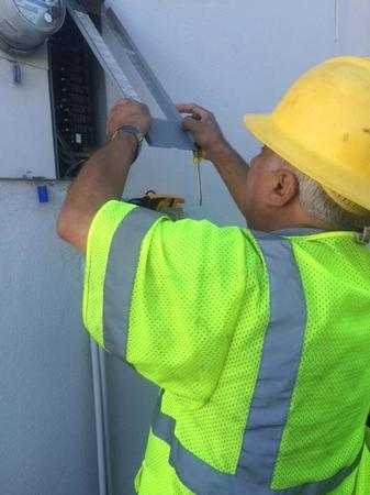 One of our common repairs is cleaning and inspecting the circuit breaker panel. Regular maintenance and cleaning by a licensed professional electrician is recommended.