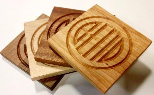 Engraved coasters, can be made with your logo...