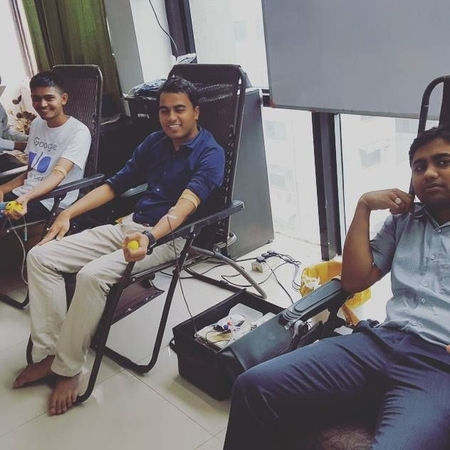 Helping societies by organising Blood Donation Programs