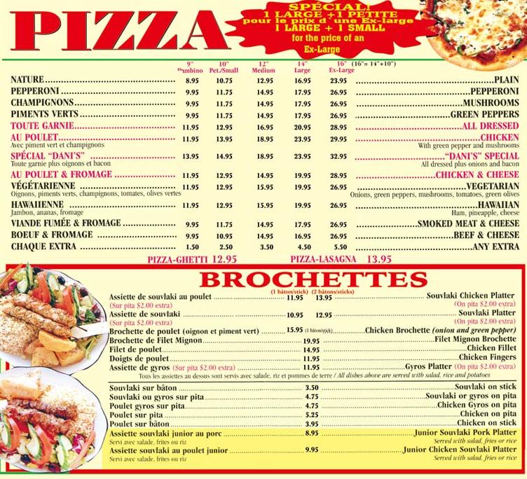 Restaurant Dani's Pizzeria à Lasalle
