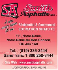 Asphalte Smith Inc à Bon-Conseil