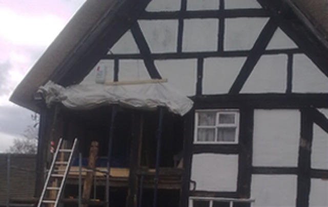 John Partridge Timber Frame Restoration - Waterproofing in Broadway ...