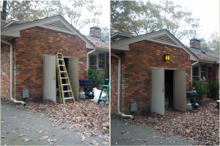 Before & After Outdoor Lighting