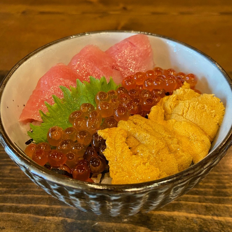 Click to expand image of Toro, Uni, Ikura Bowl