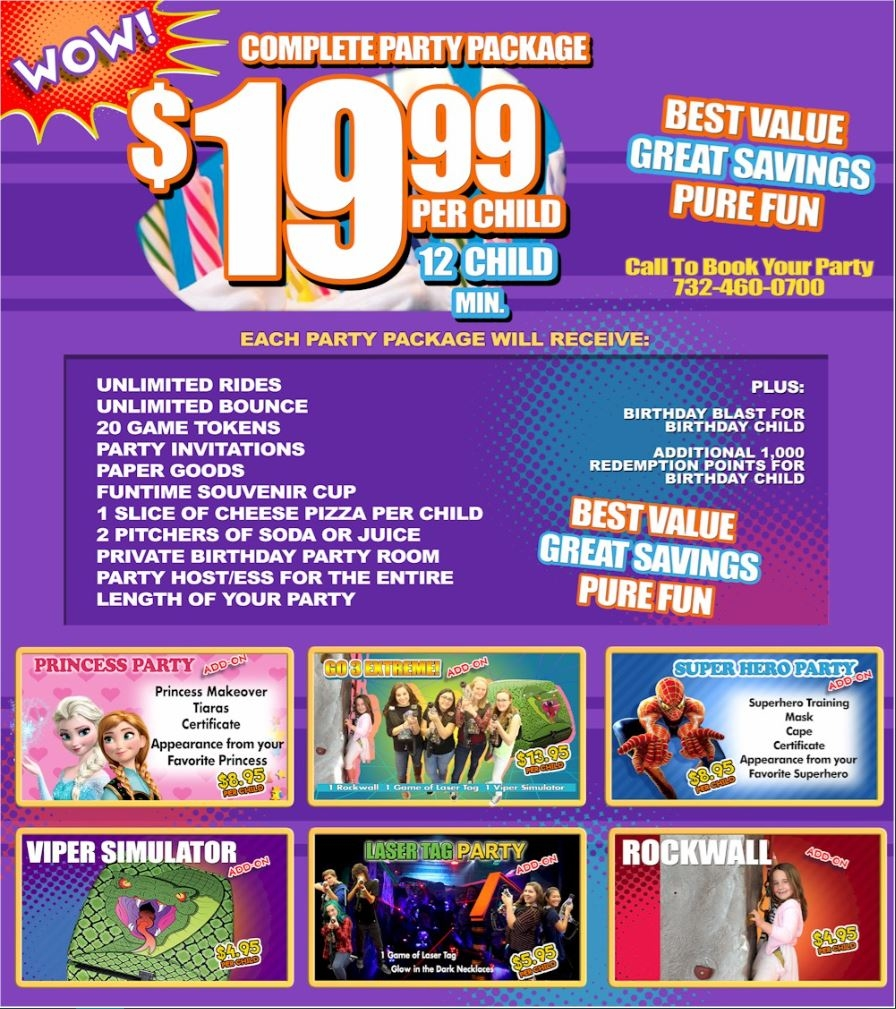 iPlay America located at Schanck Road, Freehold. The Best Birthday Party Packages Ever! When you give your child the most fun and memorable birthday party, the BEST birthday parties happen at iPlay America! Choose from four pefectly planned parties to find the one that fits the ages and heights of your child and unecdown-5l5.gaon: Schanck Rd, Freehold, , NJ.