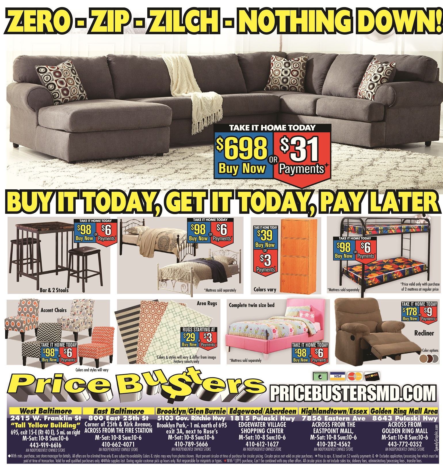 Now Pay Later Bedroom Furniture Price Busters Discount Furniture Bedroom Furniture Hyattsville