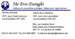 Eva Daraghi Notaire Inc.