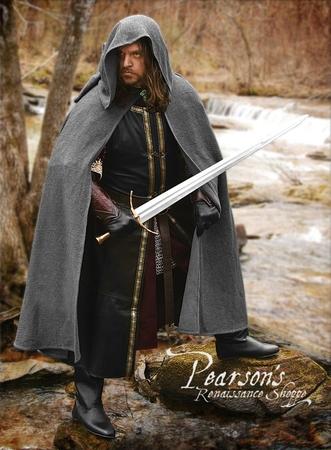 Boromir Warrior Cape With Liripipe Hood