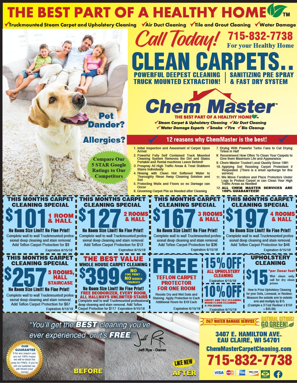 Chem Master Carpet Cleaning And Restoration image 13