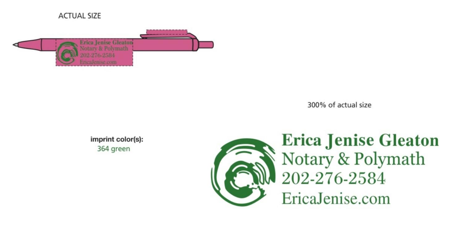 💖💚 Pretty Pink Mobile Notary & Polymath | Erica Jenise, LLC 💚💖 image 6