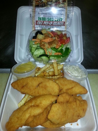 Chicken Tenders and Salad