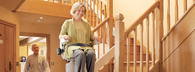 Los Angeles Custom Curved StairLifts by Bruno Stair Lifts and Acornstairlifts.com