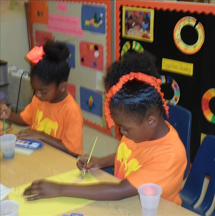 This is What Learning Looks Like: Nurturing creativity as they create works of art.