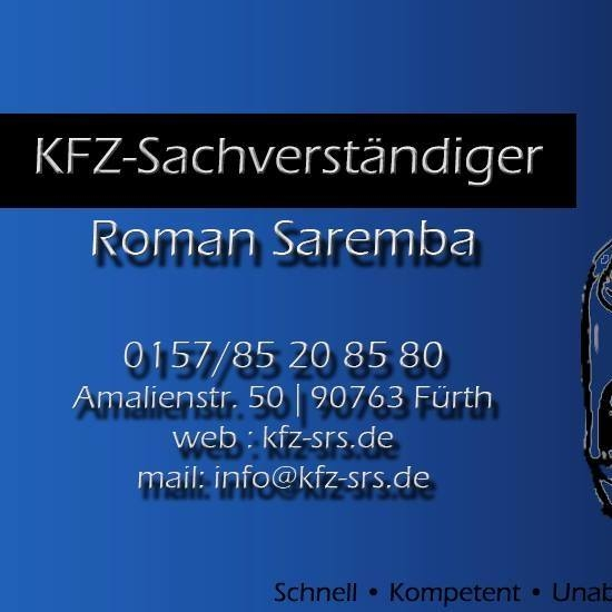 kfz sachverst ndiger roman saremba f rth kontaktieren. Black Bedroom Furniture Sets. Home Design Ideas