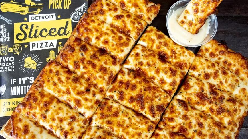 Sliced Detroit Pizza