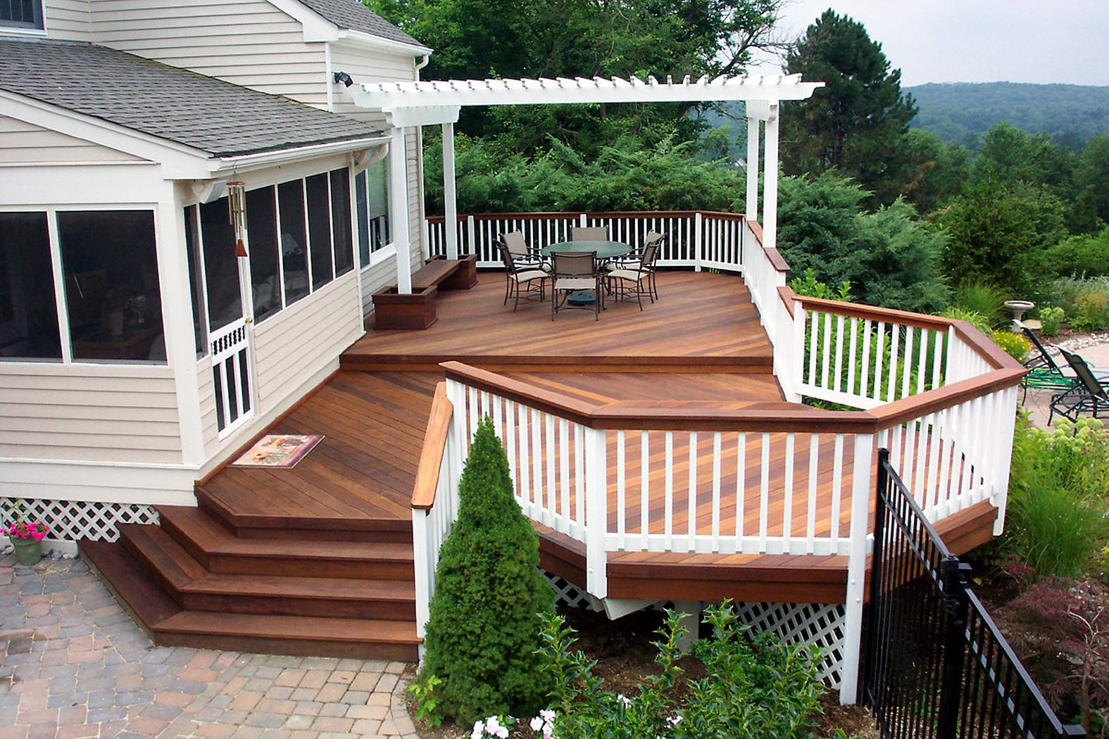 Ideas backyard deck designs : cozy backyard deck designs - h.