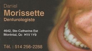 Daniel Morissette - Denturologiste in Montréal